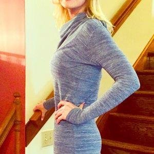 Short Blue Lightweight Sweater Dress